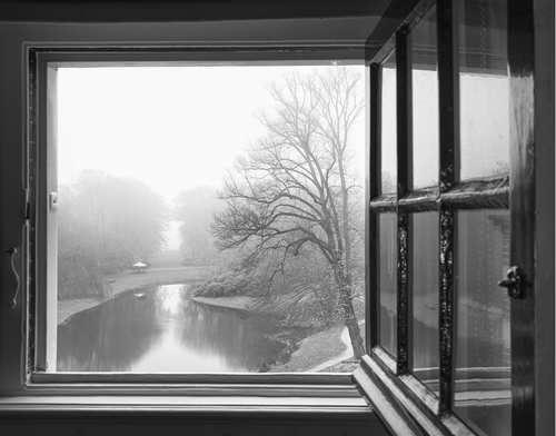 window and lake